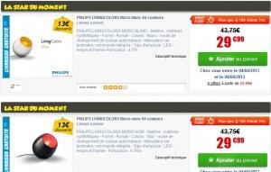 Vente flash Lampe Philips LivingColors Micro (64 couleurs) à seulement 29,99 euros