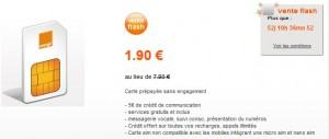 vente flash mobicarte Orange