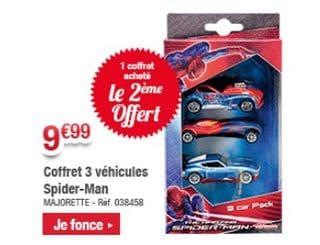 1 coffret 3 voitures majorette spiderman achet 1 - Jeux de spiderman voiture ...