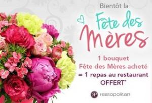 1 resto gratuit pour 1 bouquet achete rueducommerce