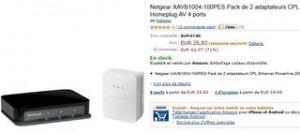 2 adaptateurs CPL Netgear 200 Mbit/s pour 25 euros