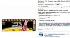 24 piles Duracell