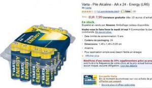 24 piles Varta AA/LR6 (port compris)