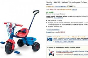 28 euros Tricycle Be Fun Spiderman Smoby