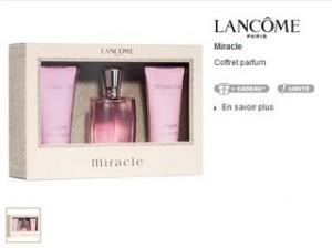 28 euros le coffret Miracle de Lancôme