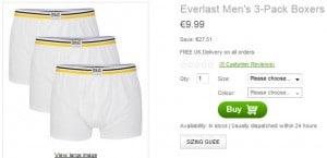 Promo boxers Everlast