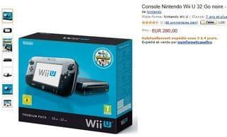 300 euros Console Nintendo Wii U 32 Go Pack Premium Nintendo Land