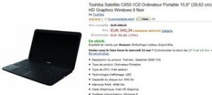340 euros Ordinateur Portable 15,6'' Toshiba Satellite C850-1C0