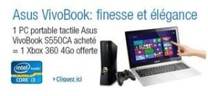 "599 euros PC portable tactile 15, 6"" Asus + Xbox 360 gratuite"