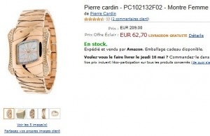 62,70 euros montre femme Pierre Cardin (port inclus)- Quantité limité