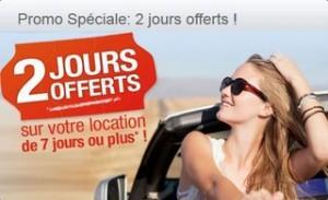 Bon plan location de voiture : 2 jours gratuits