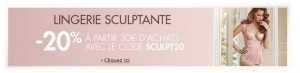 Code promo lingerie sculptante Amazon