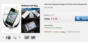 2,38 euros la protection étanche pour iPhone 4/4S (port inclus)