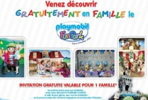 Invitation parc playmobil gratuit