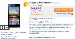 Le plus bas prix Smartphone LG Optimus 4X