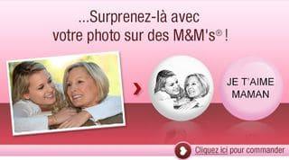 Promo M&M's avec photo (Fête des mères)