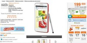 MOINS CHER Alcatel One touch scribe easy