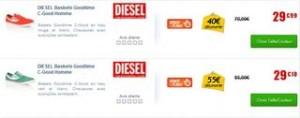 Moins de 30 euros les baskets Diesel