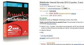 35 euros ! Bitdefender Total Security 2013 (licence 2 ans, 3 postes)