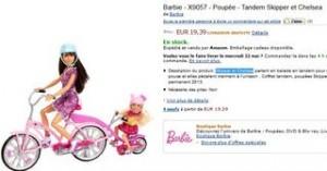 PROMO Barbie Tandem Skipper et Chelsea moins de 20 euros
