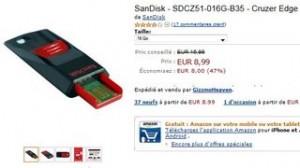 PROMO Cle USB 16 Go SanDisk Cruzer Edge