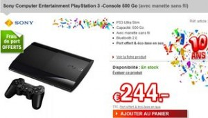 PROMO PS3 SONY 500GO 144 EUROS