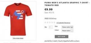 PROMO T-shirts Puma Atlanta 96 moins de 10 euros