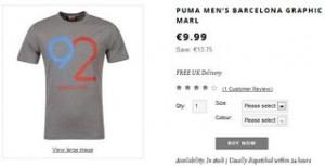 PROMO T-shirts Puma Barcelona92 moins de 10 euros