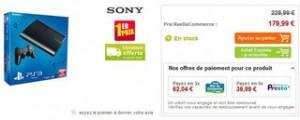 Plus bas prix PS3 Ultra slim 12Go à seulement 179,99 euros / livraison gratuite