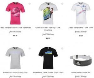 T-shirt Adidas a 6,25 euros (livraison gratuite)