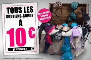 Tous les soutiens-gorge à 10 euros (livraison gratuite)