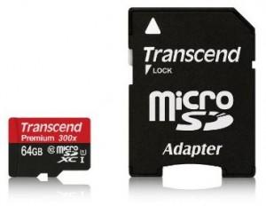 Transcend 64 Go Carte mémoire microSDXC