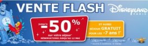 VENTE FLASH DISNEY LAND SEJOUR