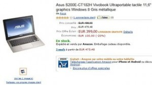 "Vente flash Asus Ultraportable tactile 11,6"" à moins de 400 euros"