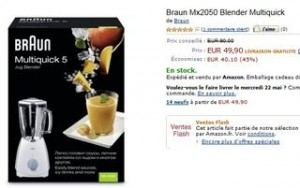 Vente flash Blender Braun à 49,90 euros