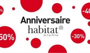 Anniversaire Habitat : jusqu'à moins 50% sur meubles, luminaires, décorations…