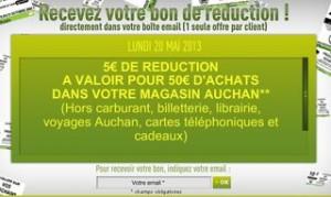 bon de reduction de 5 euros Auchan Pentecote