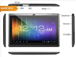 bon plan tablette pas chere 300x225 Moins de 40 euros tablette tactile 7 Android 4.0 4Go (livraison gratuite)