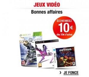 10 euros de r ductions pour 30 euros jeux video auchan. Black Bedroom Furniture Sets. Home Design Ideas