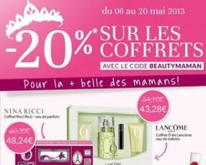 code promo coffrets parfums