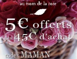 code promo fleurs au nom de la rose fete des meres