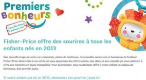 jouet Fisher Price offert aux enfants nées en 2013