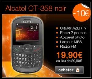 moins de 20 euros telephone alcatel ot 358 sans engagement port inclus