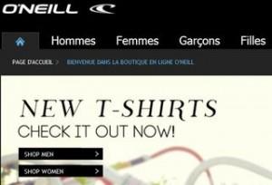O'Neill : Livraison gratuite sans minimum jusqu'à dimanche