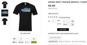 T-shirt Adidas à moins de 9 euros (livraison gratuite)