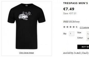 T-shirt homme Trespass à 6,37 euros (port inclus)