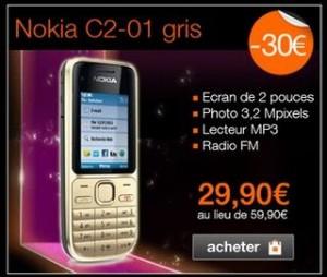 Vente flash t l phone nokia c2 01 moins de 30 5 euros mobicarte - Vente flash telephone ...