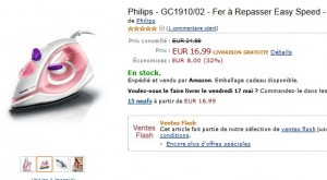 vente flash Philips Easy Speed