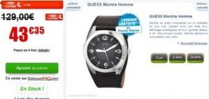 vente flash montre Guess homme à moins de 44 euros