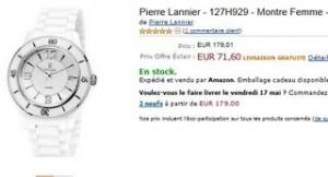 vente éclair montre Pierre Lannier femme 71 euros